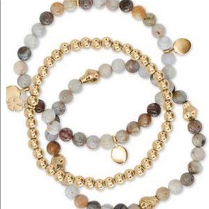 Lucky Brand 3-Pc. Agate & Stone Beaded Bracelets